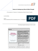 3.8 - Wiredu, Kwasi - The Question of Violence in Contemporary African Political Thought (en)