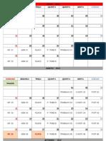 Calendário - Estudos