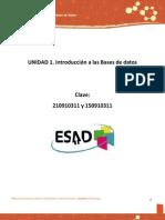 PD 3er. ESAD - Unidad 1. Introduccion a Las Bases de Datos