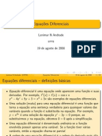 Eq. Diferenciais