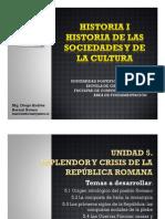 Unidad 5 Esplendor y crisis de la República Romana (Avances)