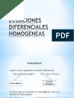 Exposicion Ecuaciones Diferenciales Homogeneas