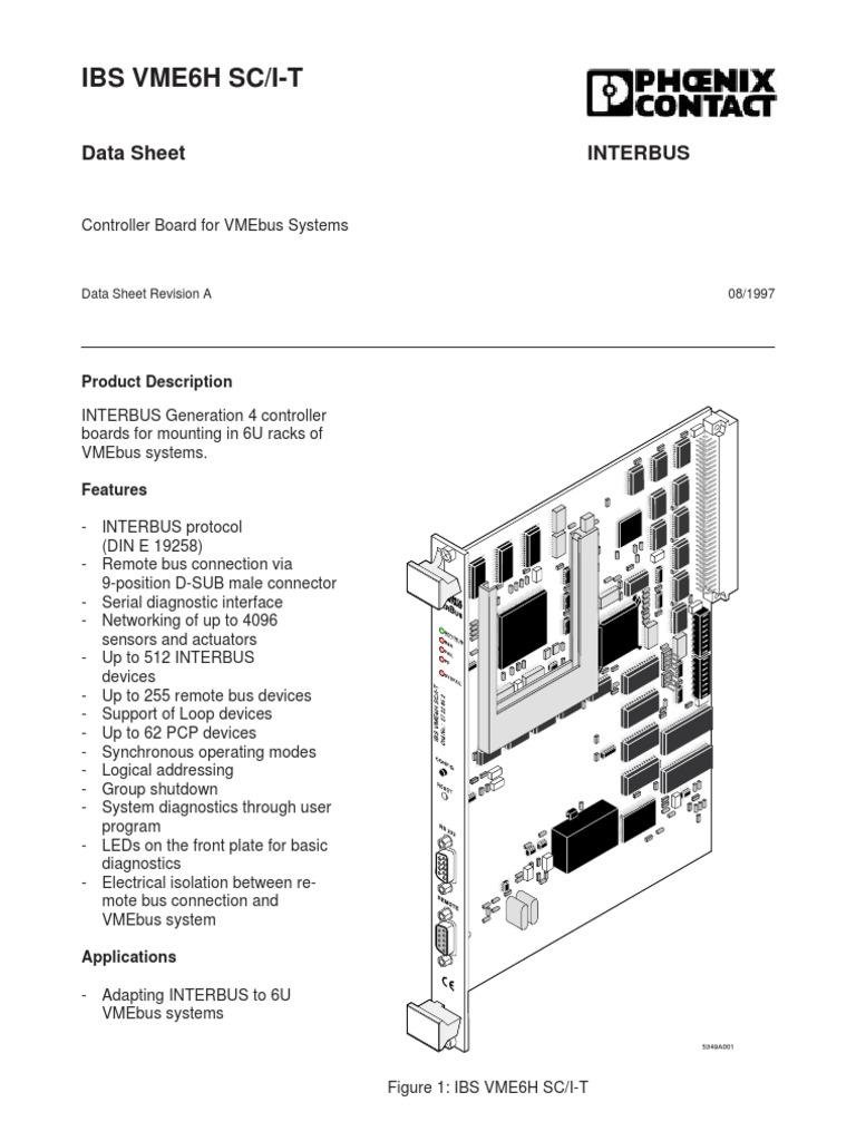 Ibs Vme6H Sc/I-T: Interbus Data Sheet