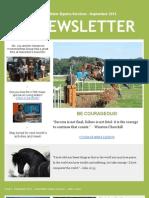 Living Water Equine Services Newsletter - September 2013