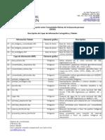 3.- Descripción de capas de información
