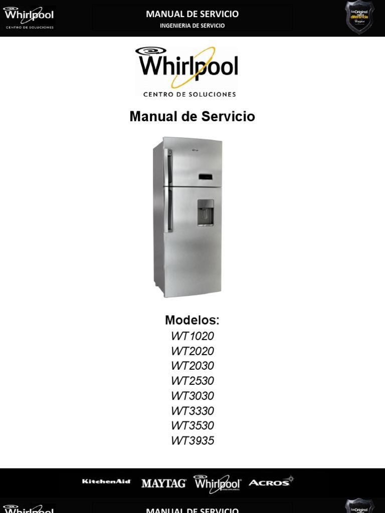 manual servicio whirlpool rh scribd com manual del usuario refrigerador whirlpool Mejor Refrigerador
