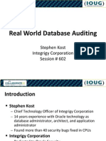Integirgy IOUG 2009 Real World Database Auditing