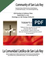 MSLRP Bulletin for 09-08-2013