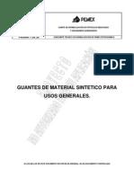 PROY-NRF-253-PEMEX-2011 Guantes de material sintético