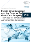 Foreign Direct Investment as a Key Driver for Trade, Growth and Prosperity