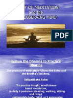 The Object of Meditation and the Observing Mind