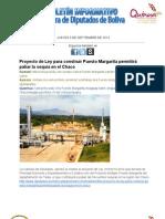 Diputados Boliva - Boletín informativo 5-9-2013