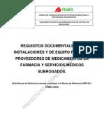 PROY-NRF-021 OCT2009 Requisitos Documentales, De Instalaciones y de Equipo
