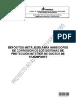 PROY-NRF-291-24-AGO-12 Depósitos metálicos para inhibidores de corrosión de los sist de protec int de ductos terrestres de transp.