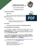 Informações Gerais - I Seminário Shaolin do Norte - Ouro Preto (1)
