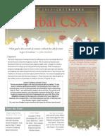 September Csa Newsletter