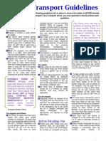 PttR Transport Guidelines