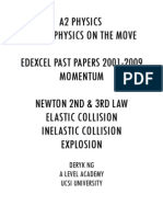 Ultimate Momentum Edexel Physics Past Papers Questions & Mark Scheme 2001-2009