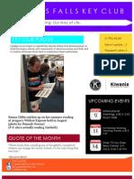 Cypress Falls Key Club August Newsletter