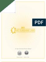 2011 Ohio Sunshine Laws Manual