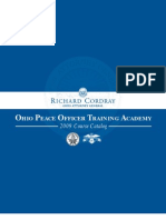 2009 Ohio Police Officer Training Academy Course Catalogue