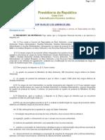 Lei 10410 Cria e Disciplina a Carreira de Especialista Em Meio Ambiente