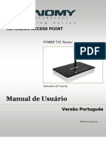 POWER TX2 Router Portuguese User Manual