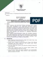 Edaran Billing Rate Konsultan 2013