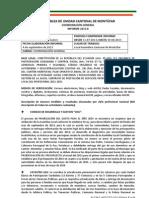 INFORME COORDINACIÓN GENERAL AUCM Agosto 2013