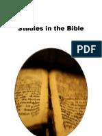 brochure for studies in the bible