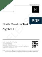 Algebra 1 Released