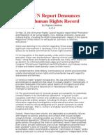 New UN Report DenouncesUS Human Rights Records