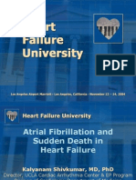 Atrial Fibrillation and Sudden Death in HF K Shivkumar MD