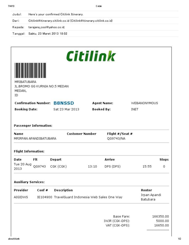 Tiket pesawat citilink online