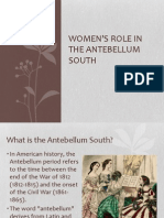 Women's Role in the Antebellum South