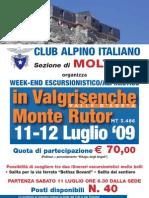Locandina Valle d'Aosta Luglio 09