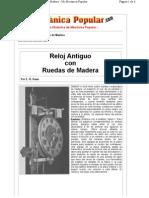 Reloj Antiguo Con Ruedas de Madera - Mi Mecanica Popular