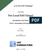 SAS Class 2008 April