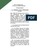 Derecho Del Trabajo Unidad i. Texto Original Del Articulo 123