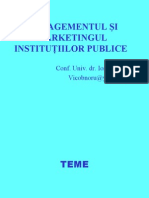 Managementul Si Marketingul Institutiilor Publice