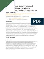 Residentes de nuevo ingreso al Hospital General de México