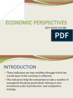 Key Indicators of Economic Perspectives