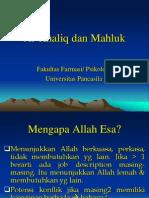 2.Al-Khaliq Dan Mahluk