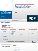 Opportunity in the Water Heaters Market in India_Feedback OTS_2013