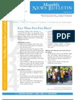 OHU Edgewater CDC September 2013 Newsletter