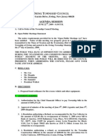 2009-06-22 Council Agenda Session