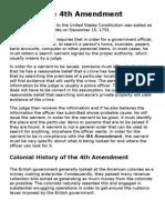 fourth amendment history