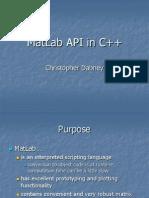 MatLab API to C++