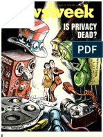 1970 Newsweek Coverstory Privacy