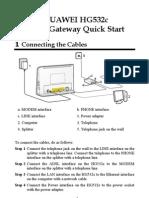 HUAWEI HG532c Home Gateway Quick Start